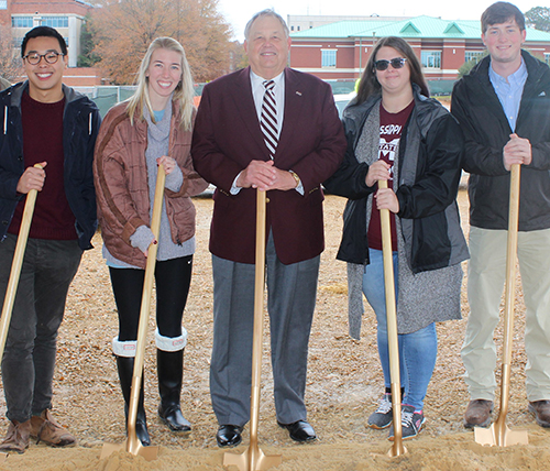 (2018) Student Participation in Richard A. Rula Engineering and Science Complex Groundbreaking – Starkville, MS