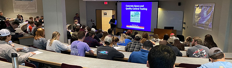 (2020) Mississippi Concrete Association – Burns Cooley Dennis Guest Lecture, Student Interactions, and Scholarship Awardees – Starkville, MS